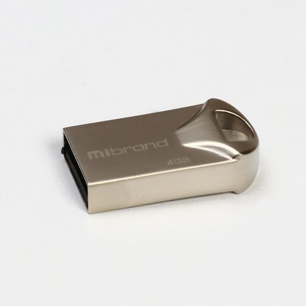 USB флеш накопитель Mibrand 4GB Hawk Silver USB 2.0 (MI2.0/HA4M1S)
