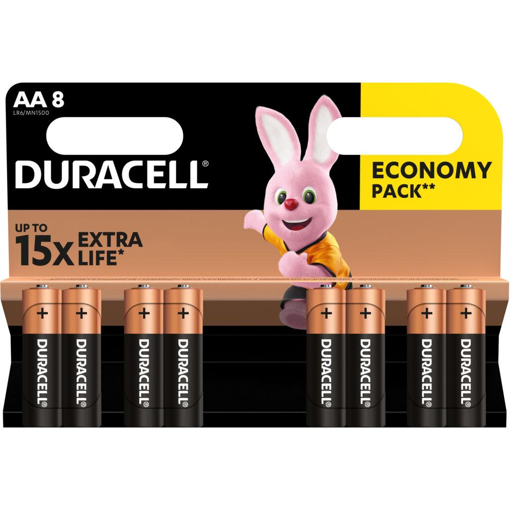 Батарейка Duracell AA MN1500 LR06 * 8 (5000394006522 / 81417083 / 81480361)