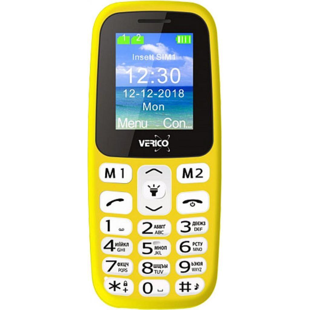 Мобильный телефон Verico Classic A183 Yellow (4713095608278)
