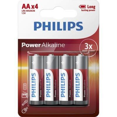 Батарейка PHILIPS AA LR6 Power Alkaline * 4 (LR6P4B/10)