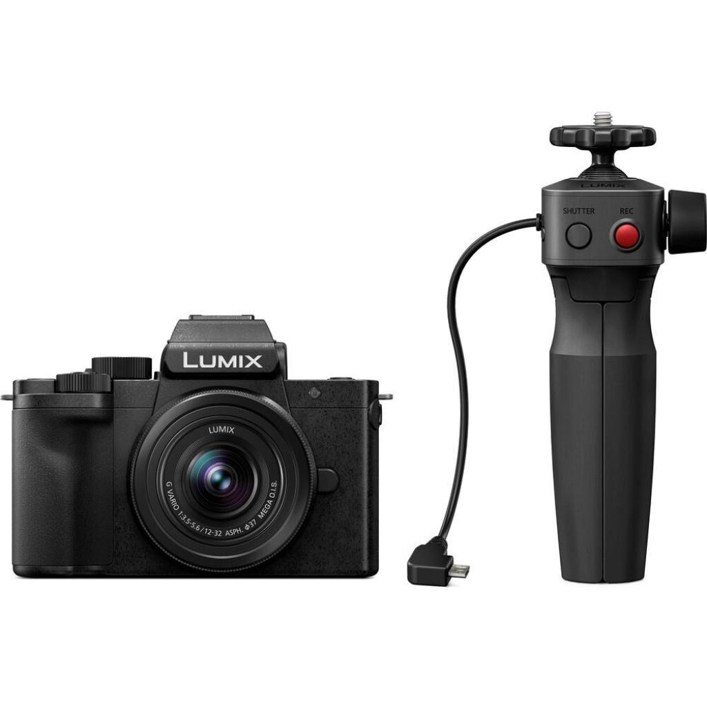 Цифровой фотоаппарат PANASONIC DC-G100 Kit 12-32mm Black + ручка штатив (DC-G100VEE-K)