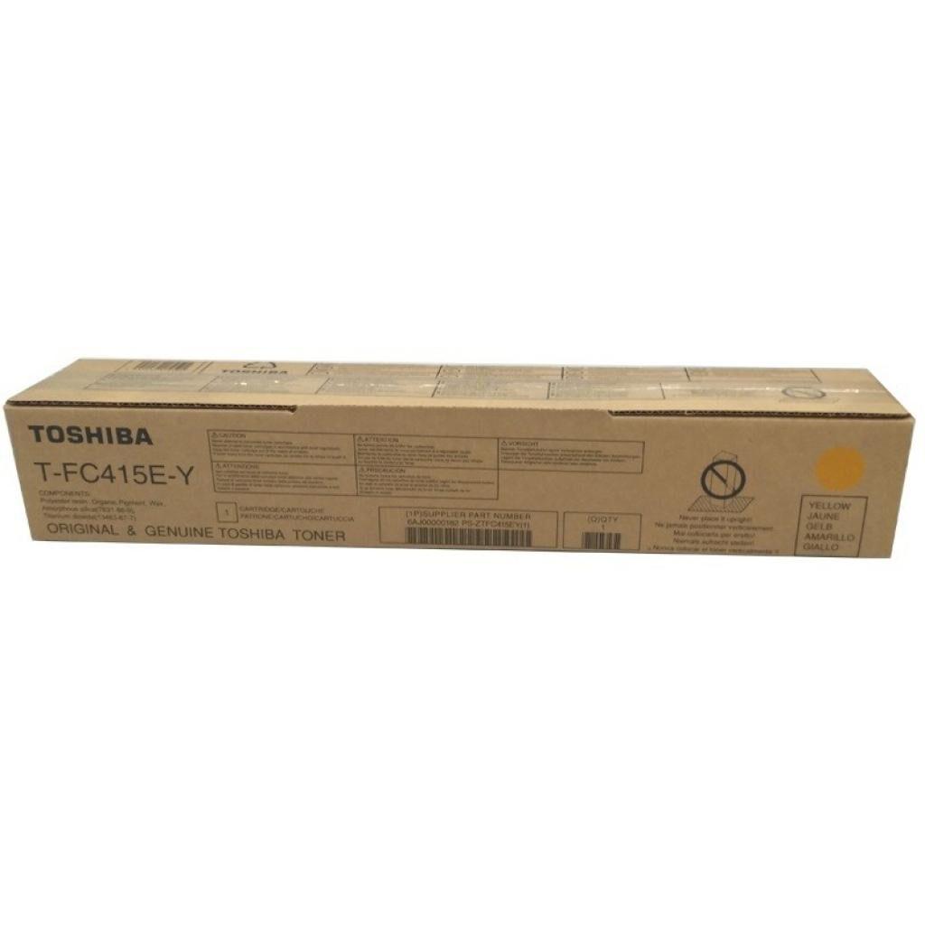 Тонер-картридж TOSHIBA T-FC415EY YELLOW 33.6K (6AJ00000182)