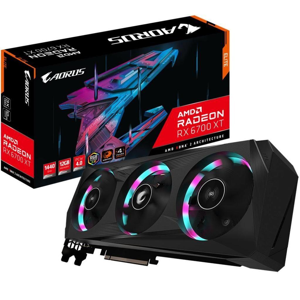 Видеокарта Gigabyte Radeon RX 6700 XT 12Gb AORUS ELITE (GV-R67XTAORUS E-12GD)