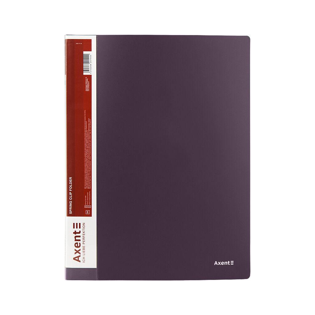 Папка с зажимом Axent A4 700 мкм Прозрачная Сливовая (1301-11-A)