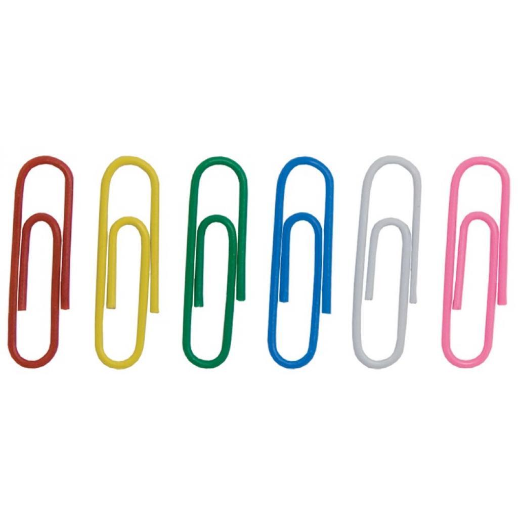 Скрепки канцелярские BUROMAX 28мм, colored, rounded 100 шт (BM.5015)