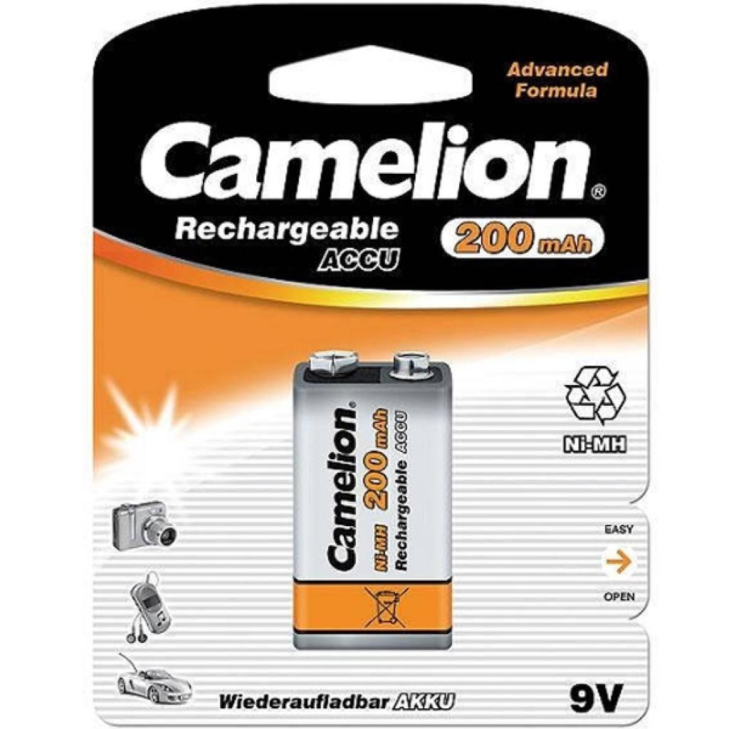 Аккумулятор Крона 200mAh Ni-MH * 1 6F22-1BL Camelion (NH-9V200BP1)