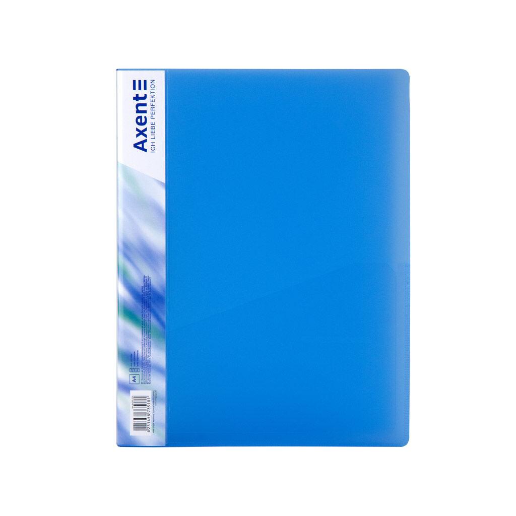 Папка с зажимом Axent A4 700 мкм Прозрачная Синяя (1301-22-A)