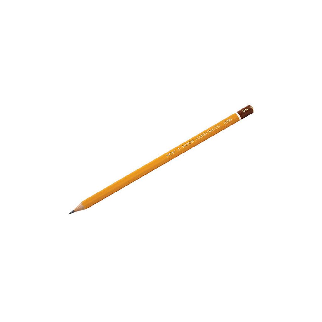 Карандаш графитный Koh-i-Noor 9H без резинки корпус Желтый (1500.9H)