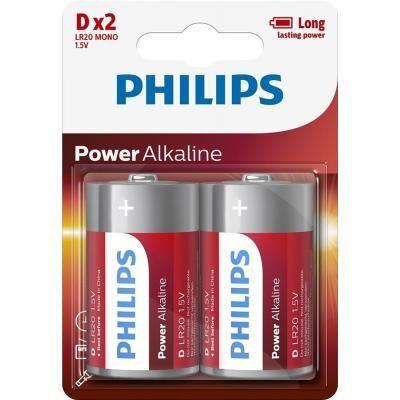 Батарейка PHILIPS D LR20 Power Alkaline * 2 (LR20P2B/10)