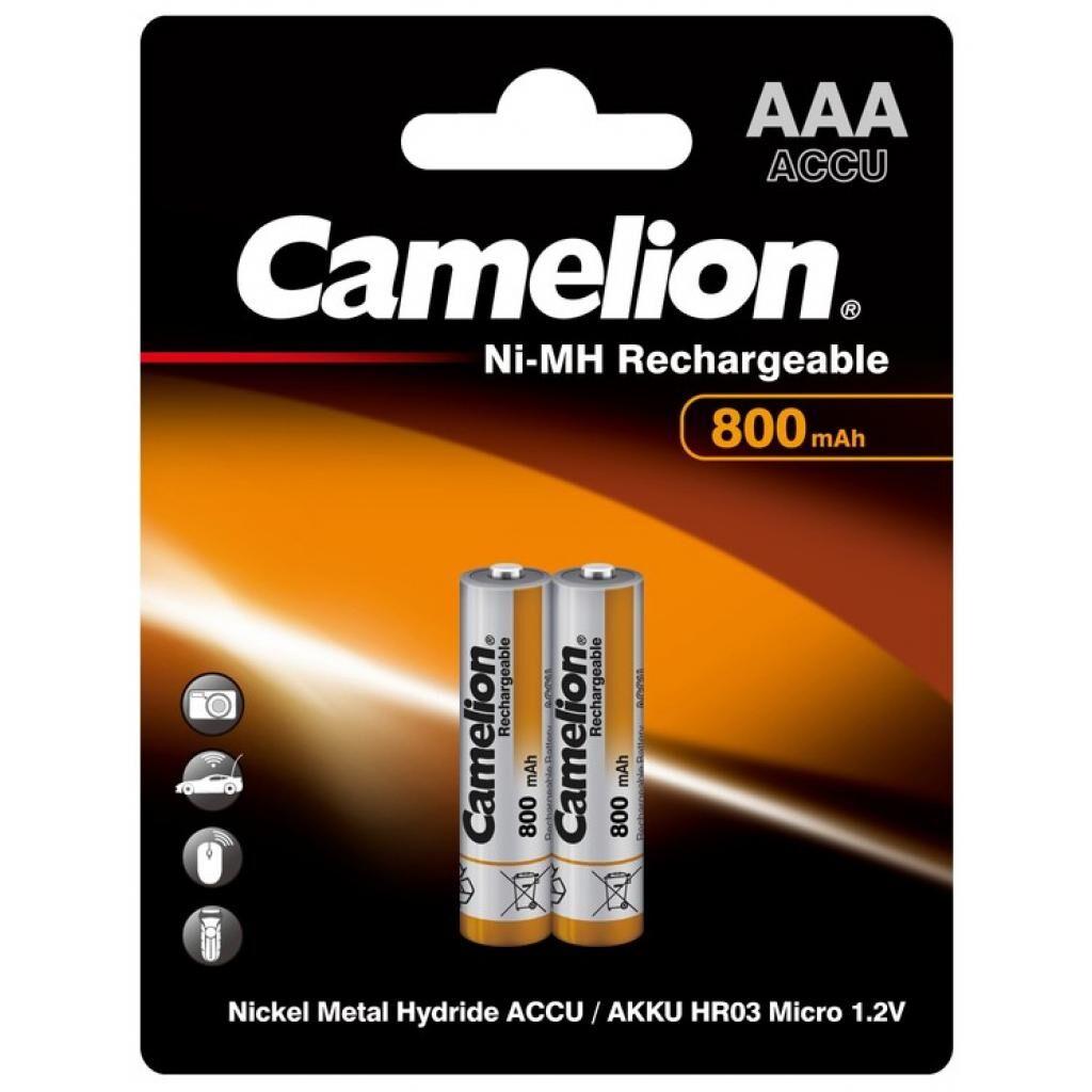 Аккумулятор Camelion AAA 800mAh Ni-MH * 2 R03-2BL (NH-AAA800BP2)