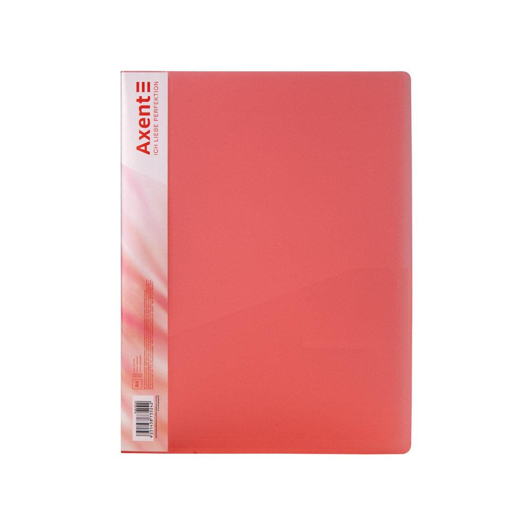 Папка с зажимом Axent A4 700 мкм Прозрачная Красная (1301-24-A)