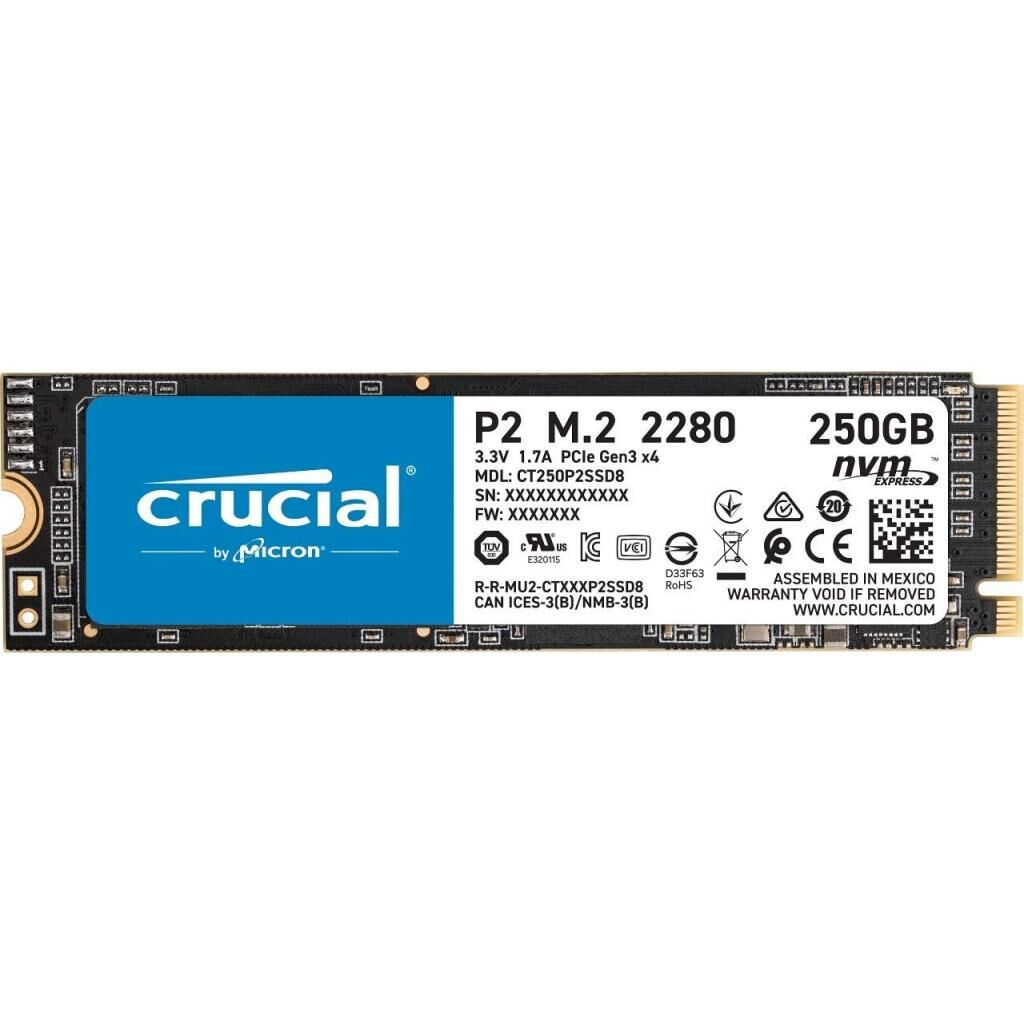 Накопитель SSD M.2 2280 250GB MICRON (CT250P2SSD8)