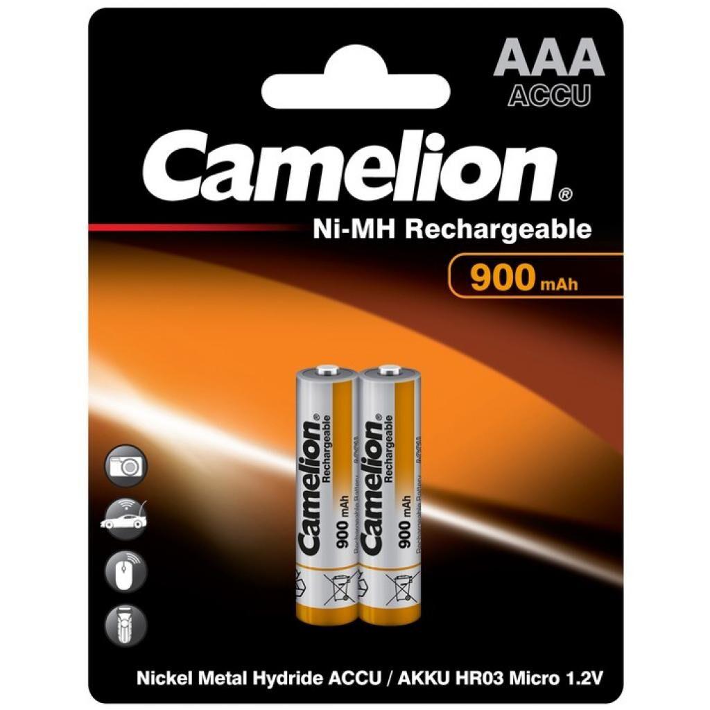 Аккумулятор Camelion AAA 900mAh Ni-MH * 2 R03-2BL (NH-AAA900BP2)