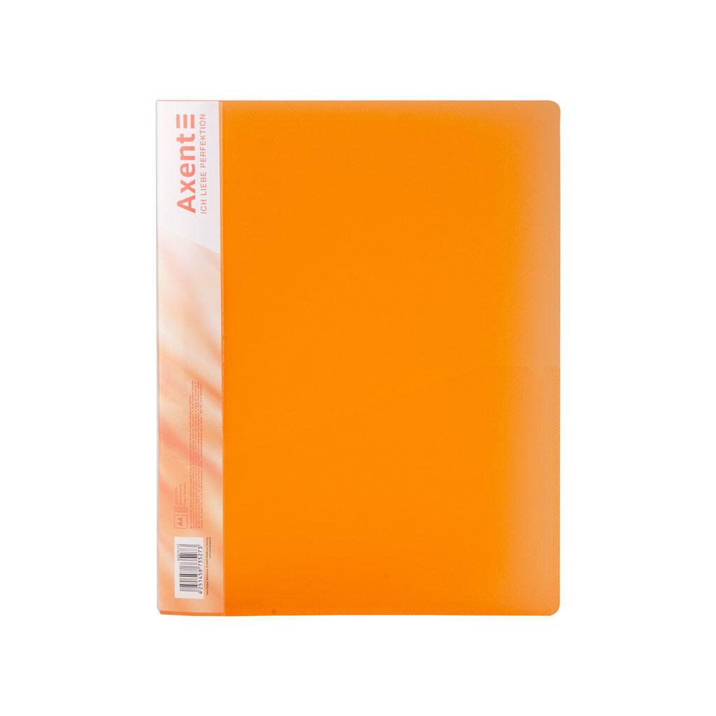 Папка с зажимом Axent A4 700 мкм Прозрачная оранжевая (1301-25-A)