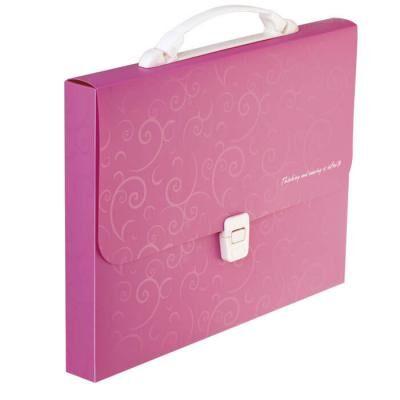 Папка - портфель Buromax A4/35мм, BAROCCO, pink (BM.3719-10)
