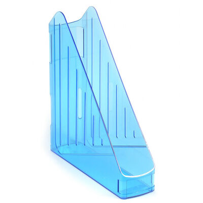 Лоток для бумаг Koh-i-Noor vertical, transparent blue (754121)