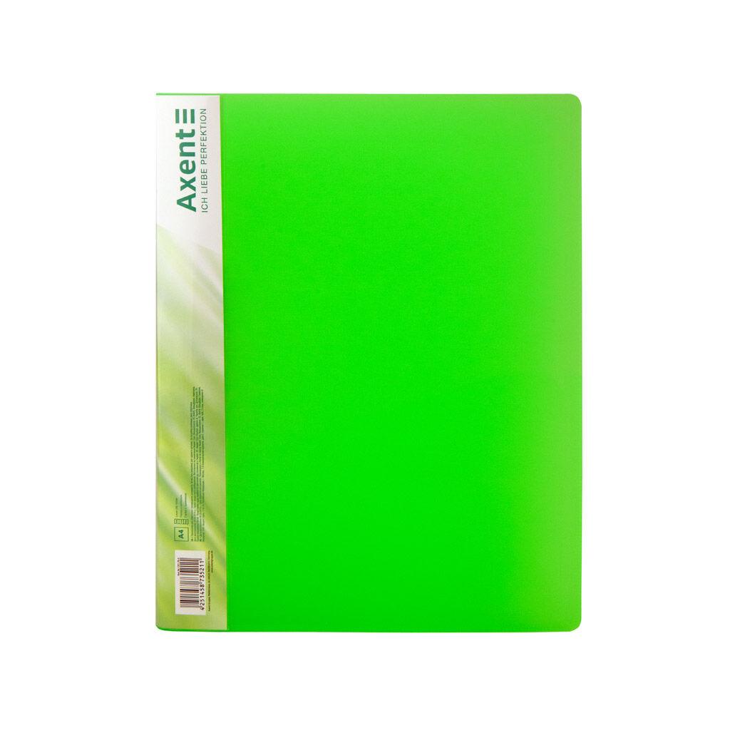 Папка с зажимом Axent A4 700 мкм Прозрачная зеленая (1301-26-A)