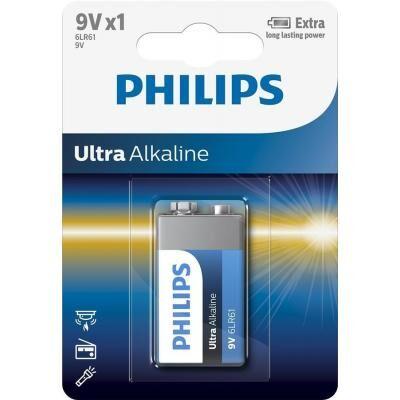 Батарейка PHILIPS Крона 6LR61 Ultra Alkaline * 1 (6LR61E1B/10)