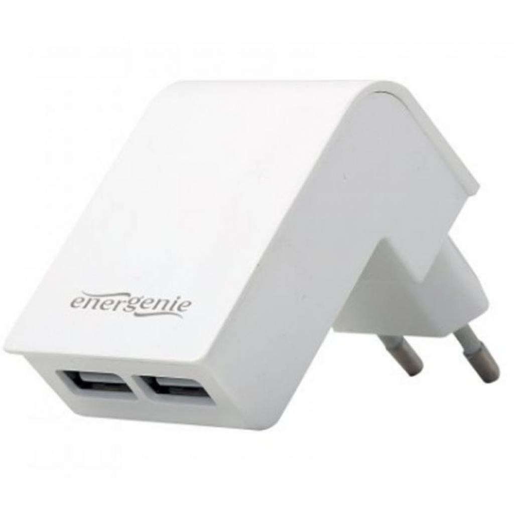 Зарядное устройство EnerGenie USB 2.1A white (EG-U2C2A-02-W)