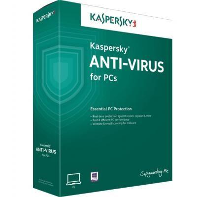 Антивирус Kaspersky Anti-Virus 3 ПК 1 year Base License Eastern Europe Edition. (KL1171OCCFS)