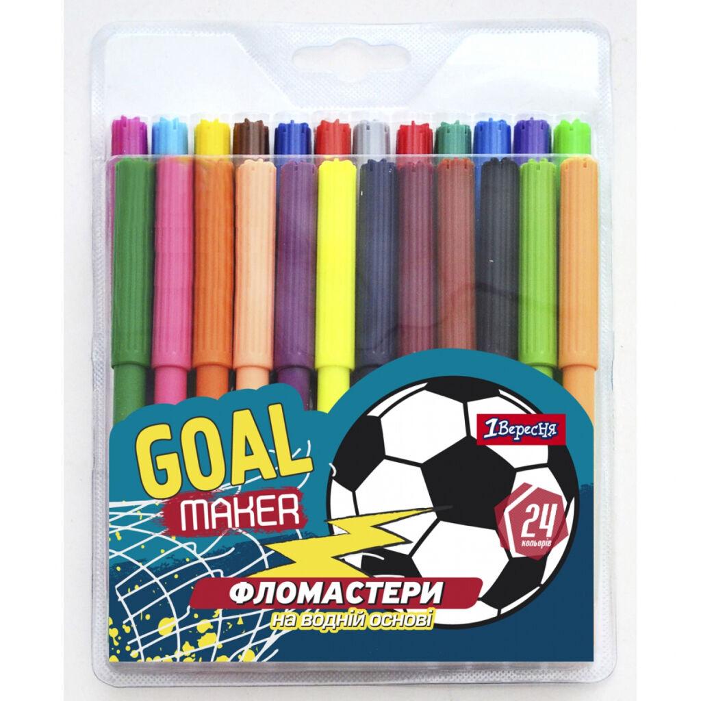 Фломастеры 1 вересня Team football, 24 цветов (650413)