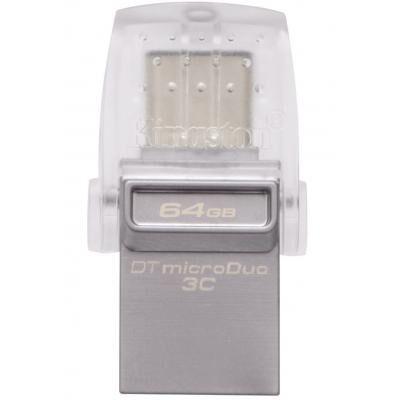 USB флеш накопитель Kingston 64GB DataTraveler microDuo 3C USB 3.1 (DTDUO3C/64GB)