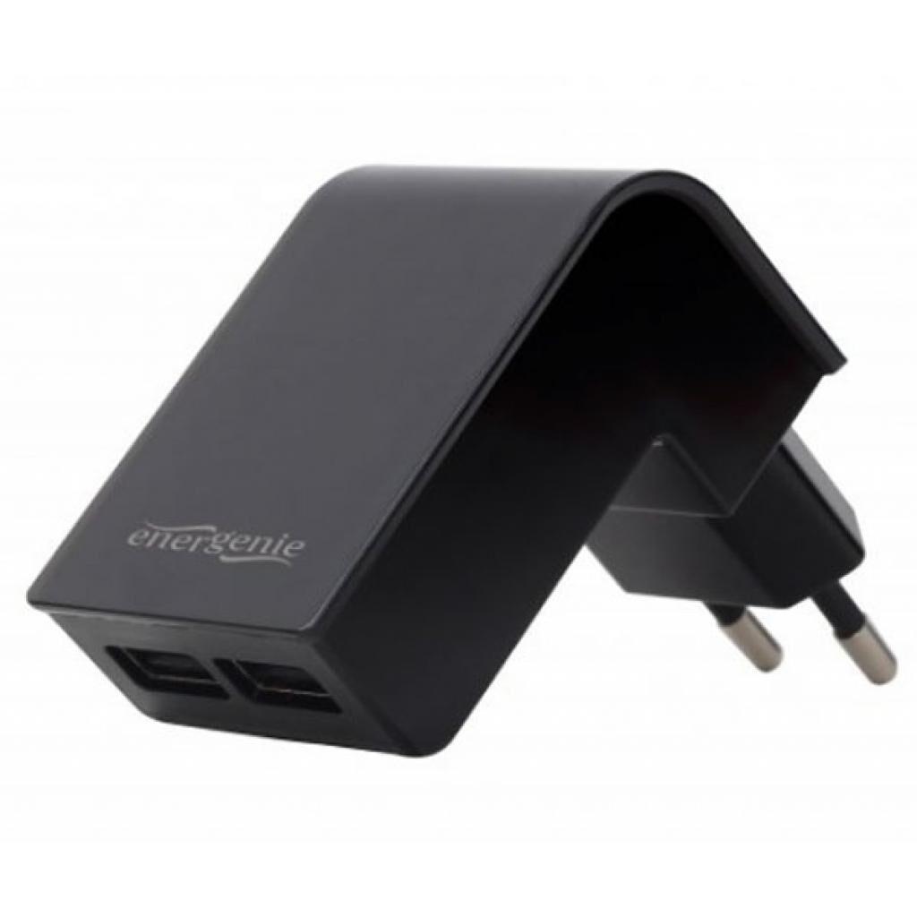Зарядное устройство EnerGenie USB 2.1A black (EG-U2C2A-02)