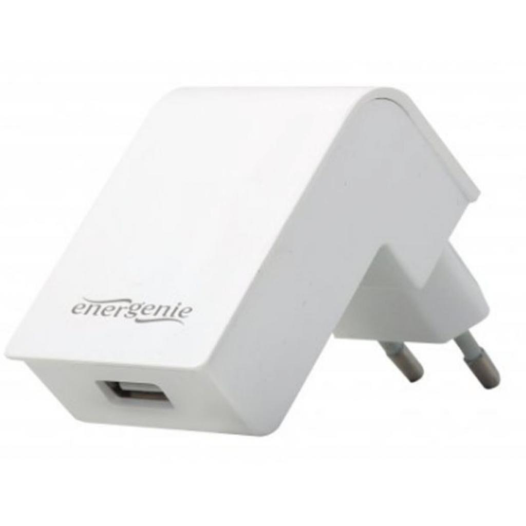 Зарядное устройство EnerGenie USB 2.1A white (EG-UC2A-02-W)