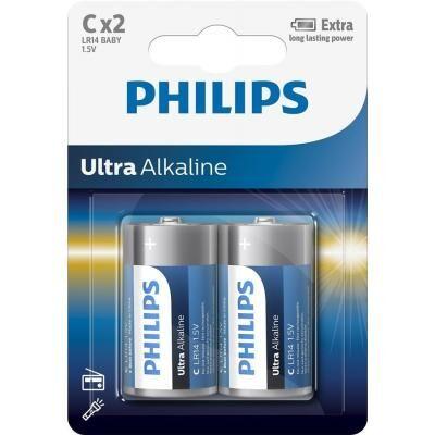 Батарейка PHILIPS C LR14 Ultra Alkaline * 2 (LR14E2B/10)