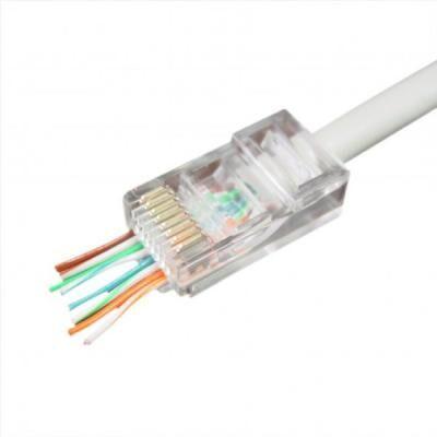 Коннектор Cablexpert RJ45 cat.5e UTP 8P8C (сквозное отв., позолоч. конт.) 10 шт (LC-PTU-01/10)