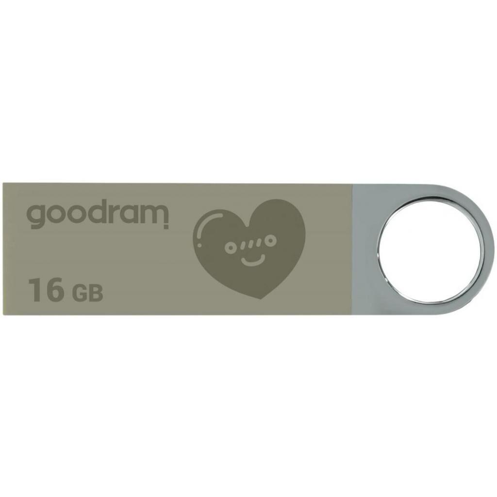 USB флеш накопитель GOODRAM 16GB UUN2 Valentine Silver USB 2.0 (UUN2-0160S0R11-V)