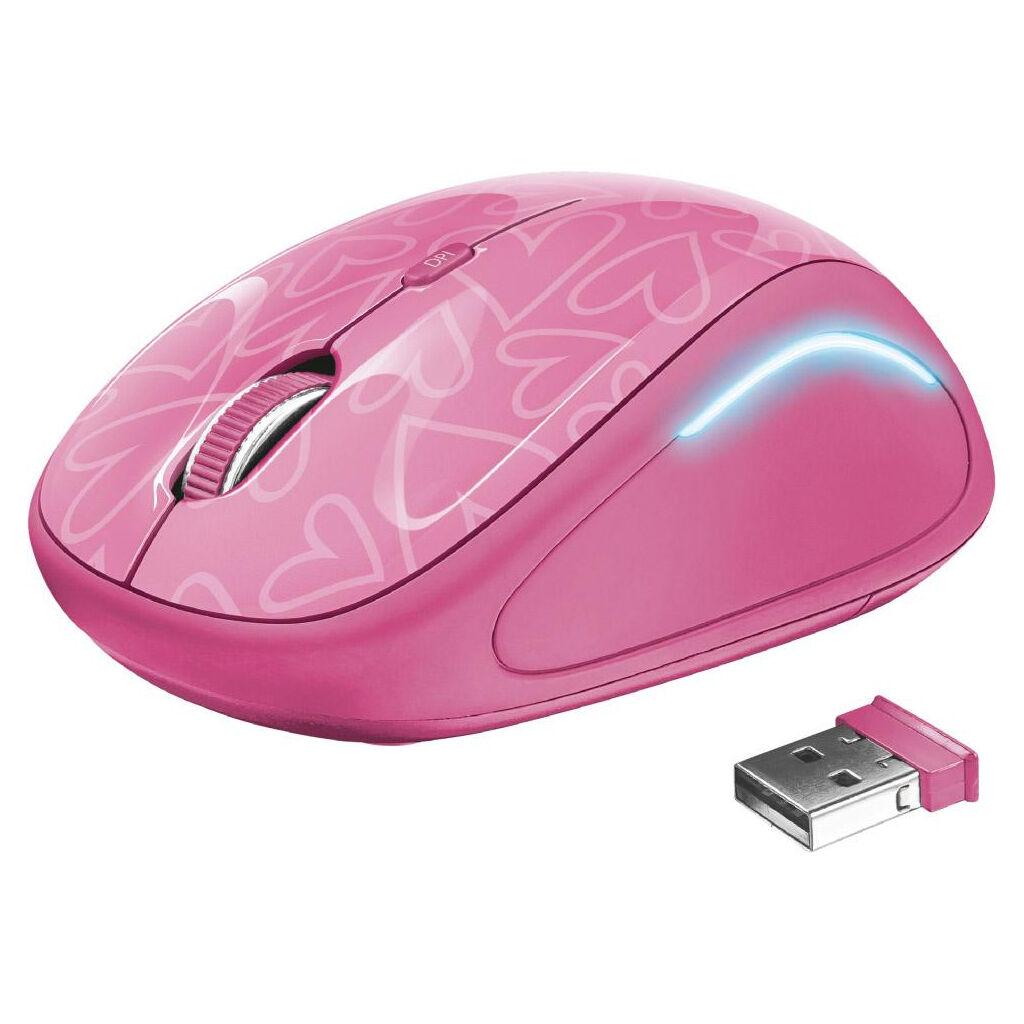 Мышка Trust Yvi FX pink (22336)