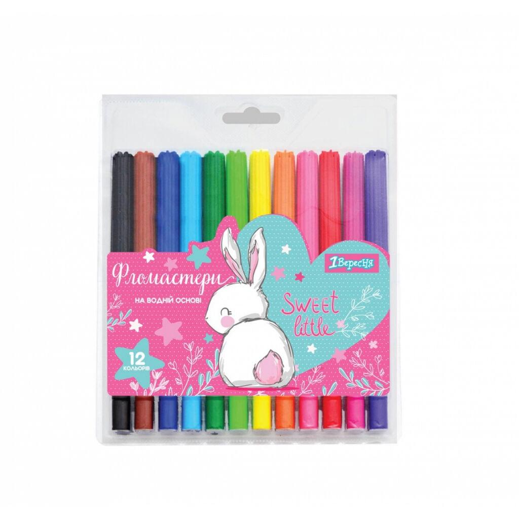 Фломастеры 1 вересня Bunny, 12 цветов (650446)