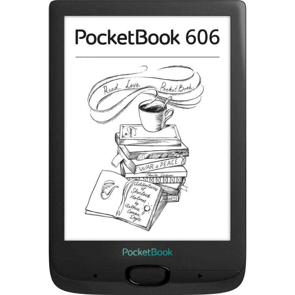 Электронная книга PocketBook 606, Black (PB606-E-CIS)