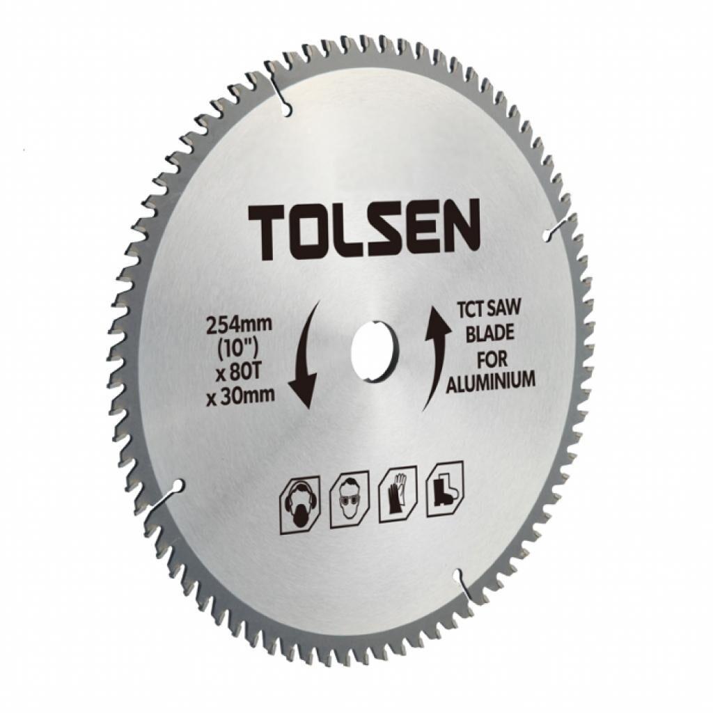 Диск Tolsen пильный с ТВС напайками по алюминию 210х60Т*30мм (76540)