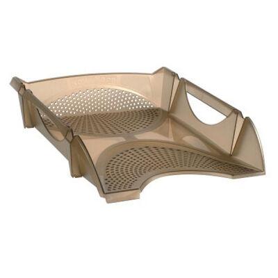 Лоток для бумаг Koh-i-Noor horizontal, transparent brown (754143)