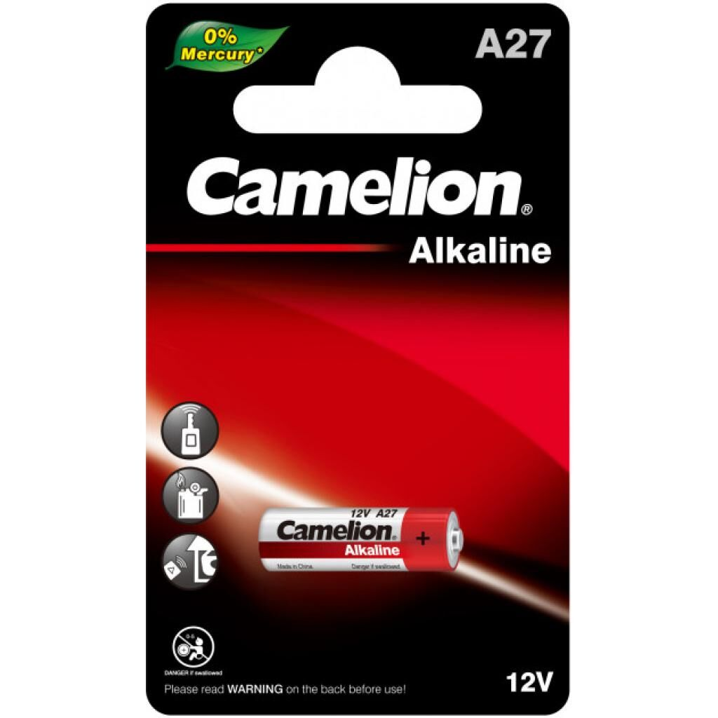 Батарейка A27 / LR27 Alkaline * 1 Camelion (A27-BP1)