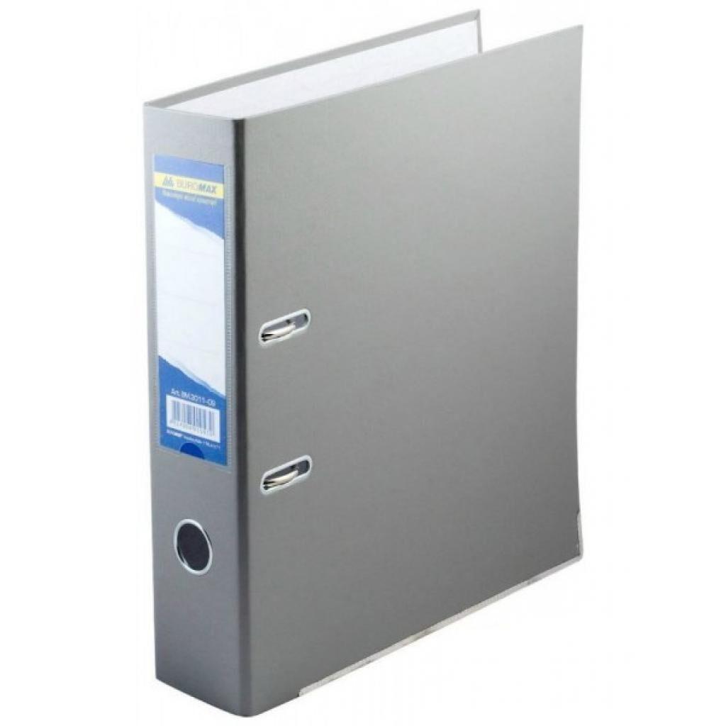 Папка - регистратор Buromax А4, 70мм, JOBMAX PP, gray, built-up (BM.3011-09c)