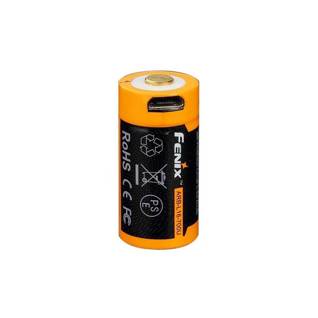 Аккумулятор Fenix 16340 Fenix 700 mAh Li-ion micro usb (ARB-L16-700U)
