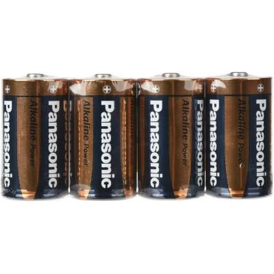 Батарейка D LR20 Alkaline Power (Shrink) * 4 PANASONIC (LR20APB/4P)