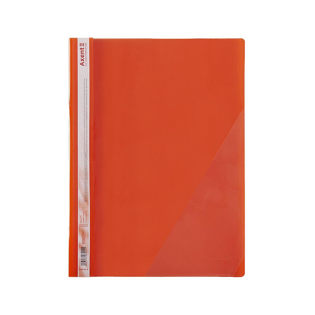 Папка-скоросшиватель Axent А4 с угловым карманом, 170/350 мкм красная (1306-24-A)