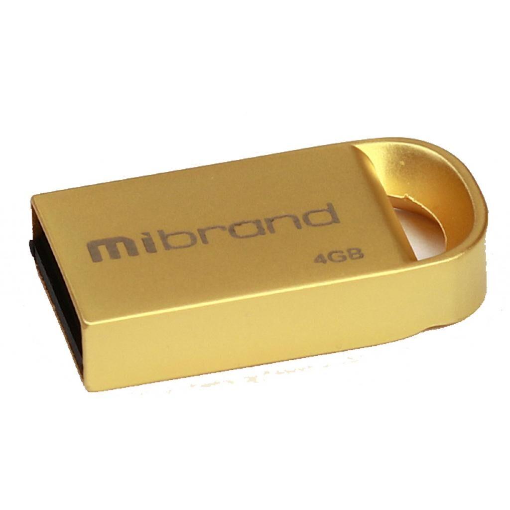 USB флеш накопитель Mibrand 4GB lynx Gold USB 2.0 (MI2.0/LY4M2G)