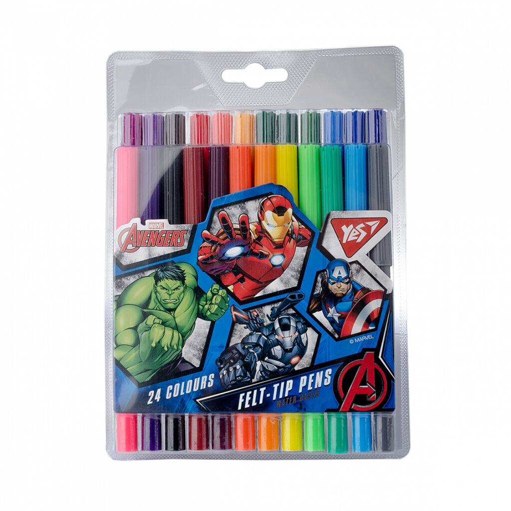 Фломастеры Yes Marvel, 24 цветов (650421)