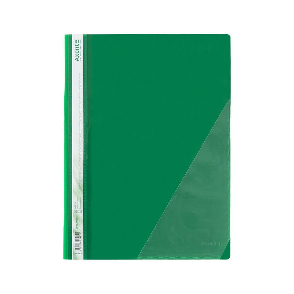 Папка-скоросшиватель Axent А4 с угловым карманом, 170/350 мкм зеленая (1306-25-A)