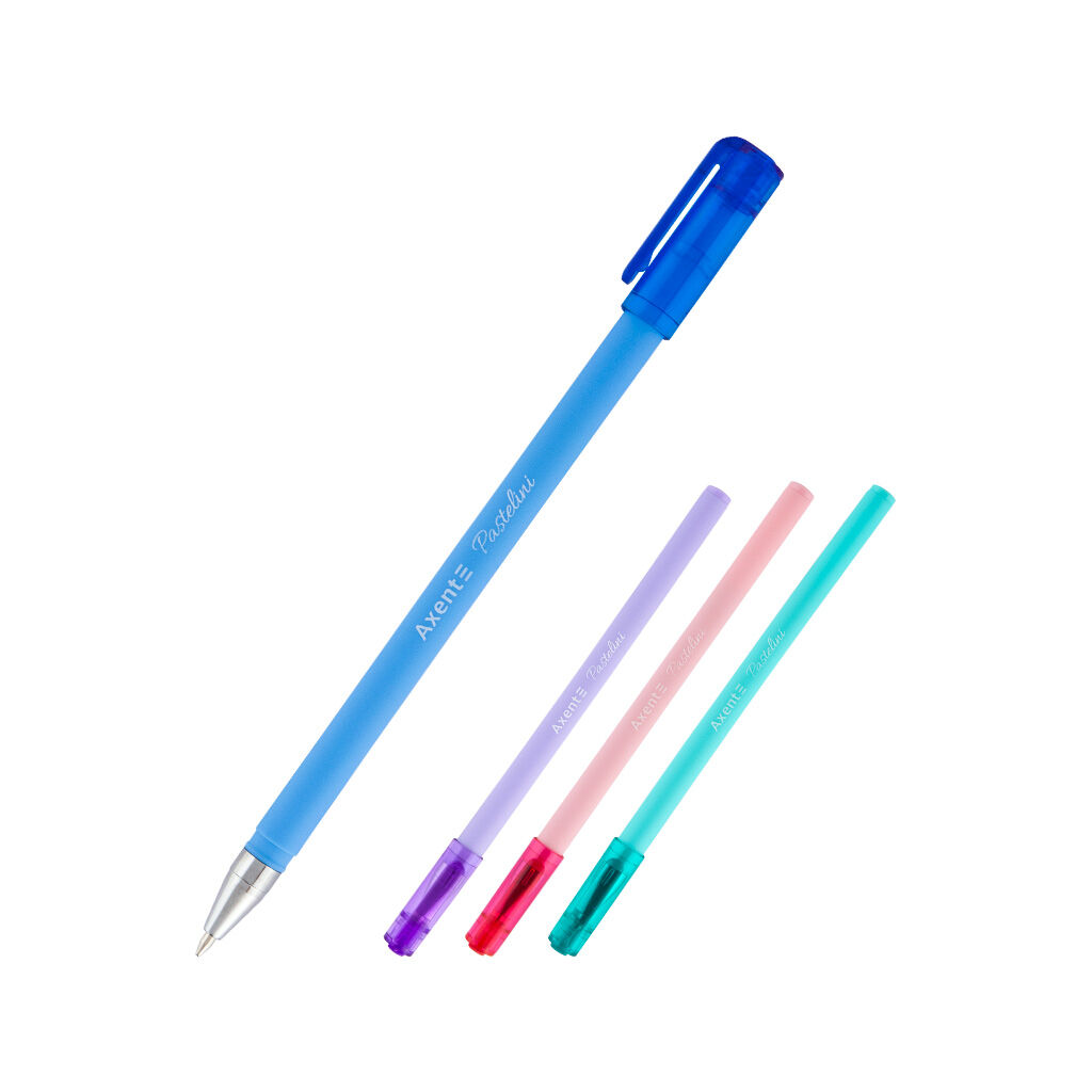 Ручка шариковая Axent Pastelini Синяя 0.7 мм (AB1083-02-A)