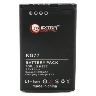 Аккумуляторная батарея для телефона Extradigital LG KG77 (700 mAh) (DV00DV6058)