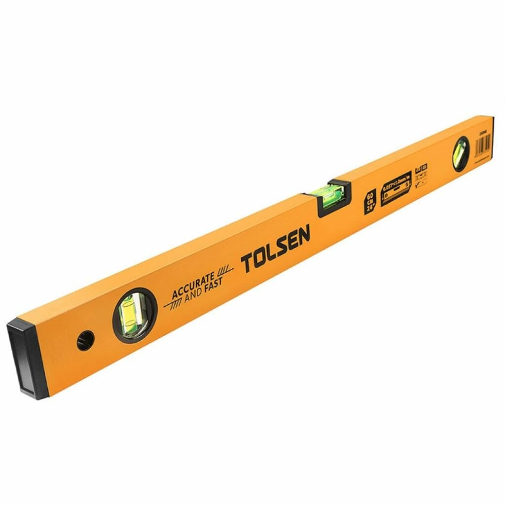 Уровень Tolsen 80 см 3 капсулы алюминиевая рамка 1 мм (35067)