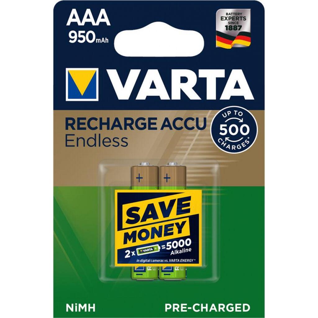 Аккумулятор Varta AAA Rechargeable Accu Endless 950mAh * 2 (56683101402)