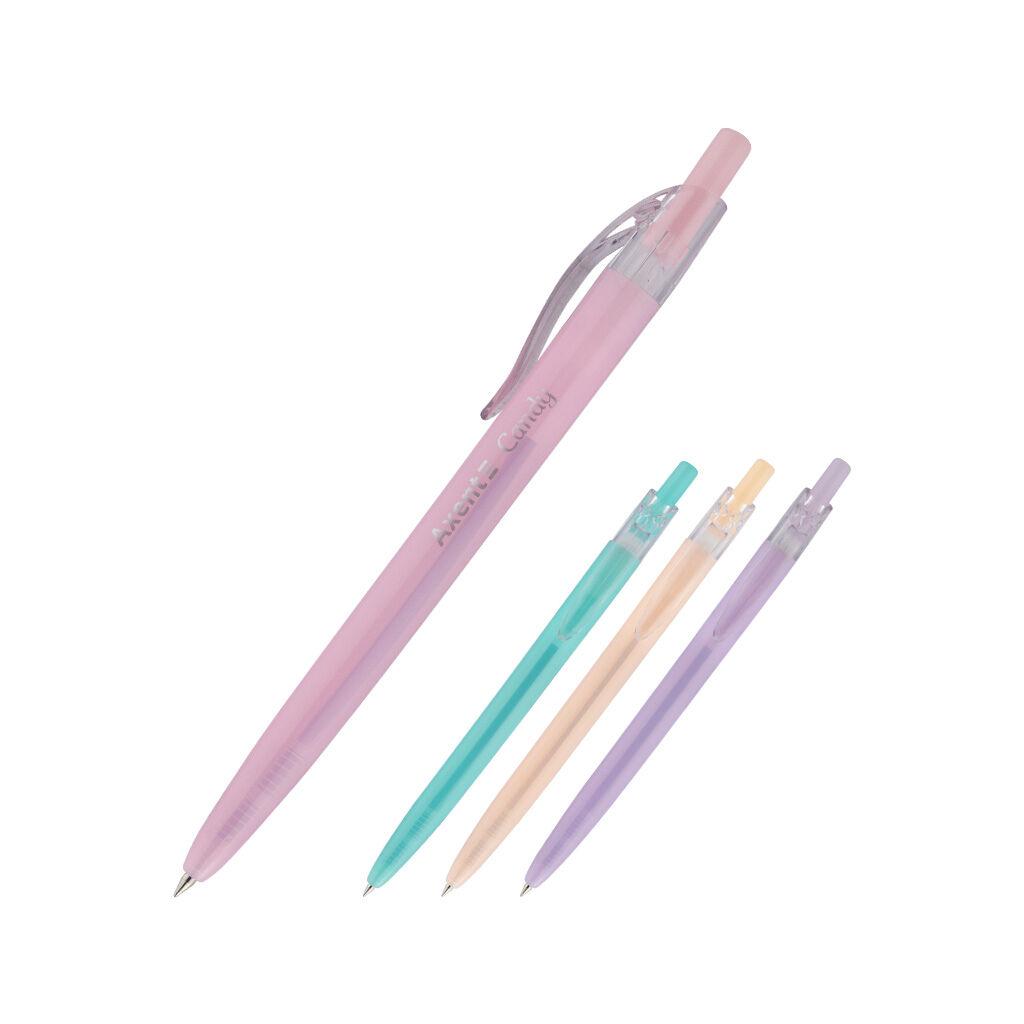Ручка шариковая Axent Candy автоматическая Синяя 0.5 мм (AB1084-02-A)