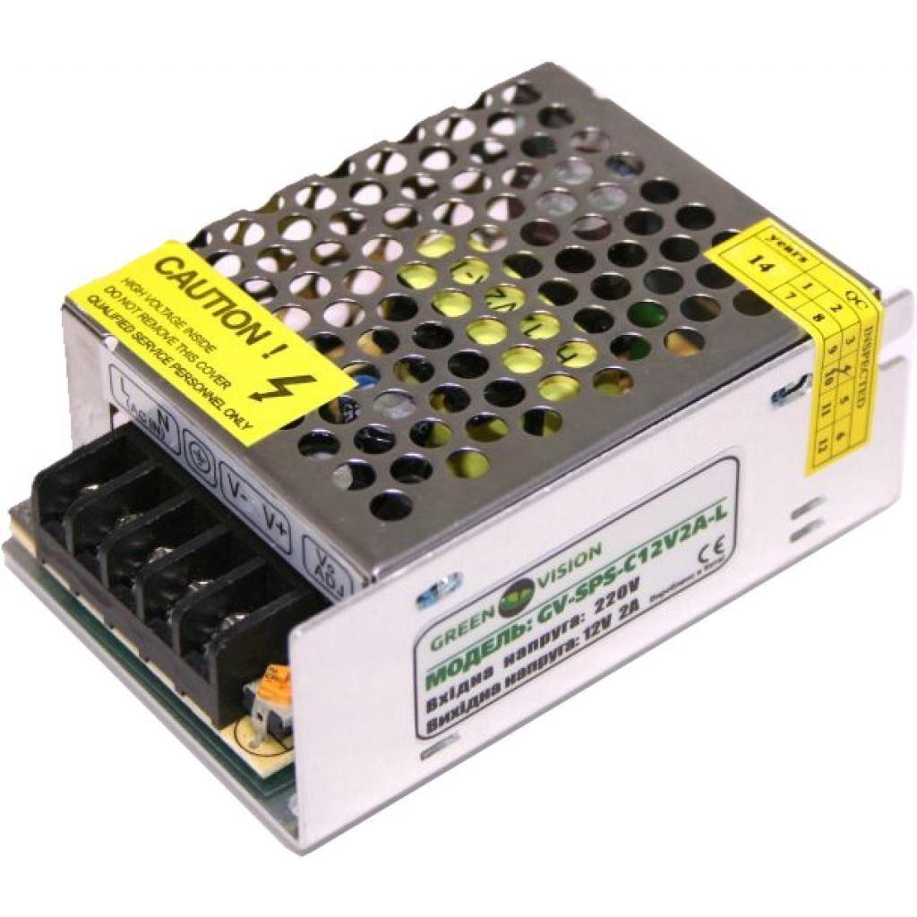Блок питания для систем видеонаблюдения Greenvision GV-SPS-C 12V2A-L (3446)